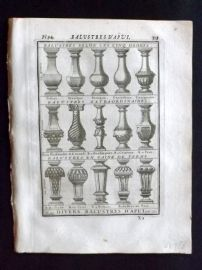 Vignola 1720 Architectural Print. Balusters 76